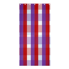 Gingham Pattern Checkered Violet Shower Curtain 36  X 72  (stall)