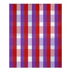 Gingham Pattern Checkered Violet Shower Curtain 60  X 72  (medium)