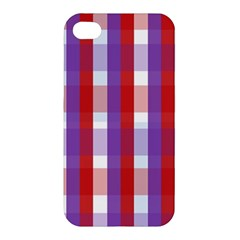 Gingham Pattern Checkered Violet Apple iPhone 4/4S Hardshell Case
