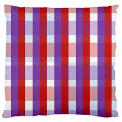 Gingham Pattern Checkered Violet Large Cushion Case (One Side)
