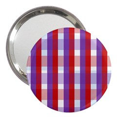 Gingham Pattern Checkered Violet 3  Handbag Mirrors