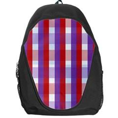 Gingham Pattern Checkered Violet Backpack Bag