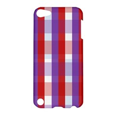 Gingham Pattern Checkered Violet Apple iPod Touch 5 Hardshell Case