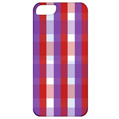 Gingham Pattern Checkered Violet Apple iPhone 5 Classic Hardshell Case