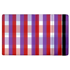 Gingham Pattern Checkered Violet Apple iPad 2 Flip Case