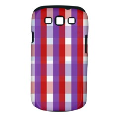 Gingham Pattern Checkered Violet Samsung Galaxy S III Classic Hardshell Case (PC+Silicone)