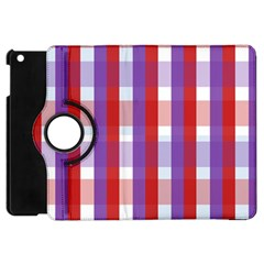Gingham Pattern Checkered Violet Apple iPad Mini Flip 360 Case