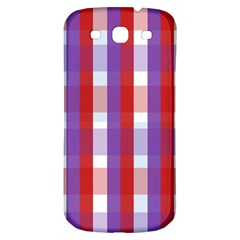 Gingham Pattern Checkered Violet Samsung Galaxy S3 S Iii Classic Hardshell Back Case