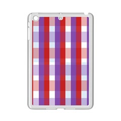 Gingham Pattern Checkered Violet iPad Mini 2 Enamel Coated Cases