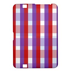 Gingham Pattern Checkered Violet Kindle Fire HD 8.9
