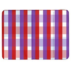 Gingham Pattern Checkered Violet Samsung Galaxy Tab 7  P1000 Flip Case