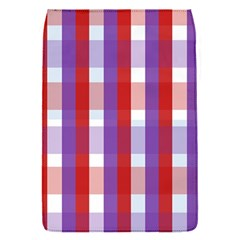 Gingham Pattern Checkered Violet Flap Covers (S)