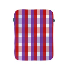 Gingham Pattern Checkered Violet Apple iPad 2/3/4 Protective Soft Cases