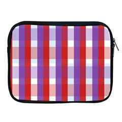 Gingham Pattern Checkered Violet Apple iPad 2/3/4 Zipper Cases