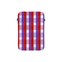 Gingham Pattern Checkered Violet Apple Ipad Mini Protective Soft Cases