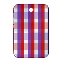 Gingham Pattern Checkered Violet Samsung Galaxy Note 8.0 N5100 Hardshell Case