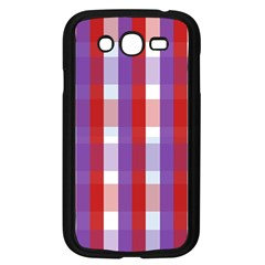 Gingham Pattern Checkered Violet Samsung Galaxy Grand DUOS I9082 Case (Black)