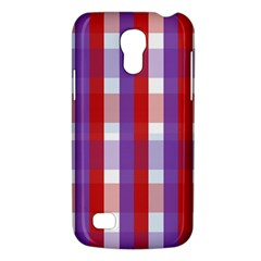 Gingham Pattern Checkered Violet Galaxy S4 Mini