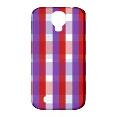Gingham Pattern Checkered Violet Samsung Galaxy S4 Classic Hardshell Case (PC+Silicone)