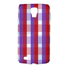 Gingham Pattern Checkered Violet Galaxy S4 Active