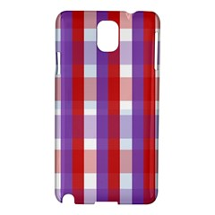 Gingham Pattern Checkered Violet Samsung Galaxy Note 3 N9005 Hardshell Case