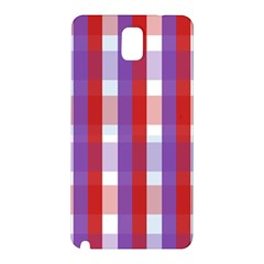 Gingham Pattern Checkered Violet Samsung Galaxy Note 3 N9005 Hardshell Back Case