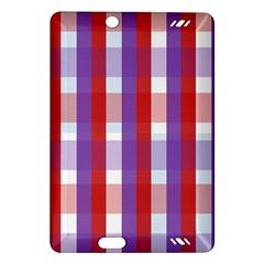 Gingham Pattern Checkered Violet Amazon Kindle Fire HD (2013) Hardshell Case