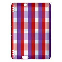 Gingham Pattern Checkered Violet Kindle Fire HDX Hardshell Case