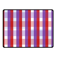 Gingham Pattern Checkered Violet Double Sided Fleece Blanket (small)