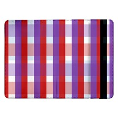 Gingham Pattern Checkered Violet Samsung Galaxy Tab Pro 12.2  Flip Case