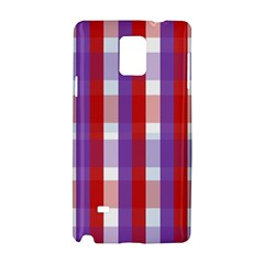 Gingham Pattern Checkered Violet Samsung Galaxy Note 4 Hardshell Case