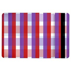 Gingham Pattern Checkered Violet iPad Air 2 Flip