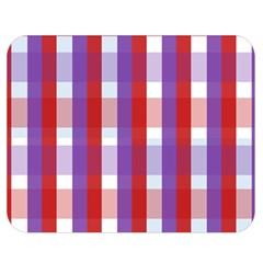 Gingham Pattern Checkered Violet Double Sided Flano Blanket (Medium)
