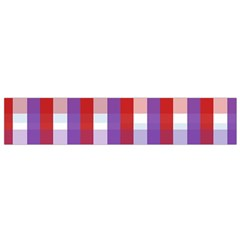 Gingham Pattern Checkered Violet Flano Scarf (small)