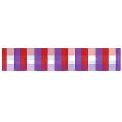 Gingham Pattern Checkered Violet Flano Scarf (large)