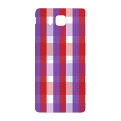 Gingham Pattern Checkered Violet Samsung Galaxy Alpha Hardshell Back Case