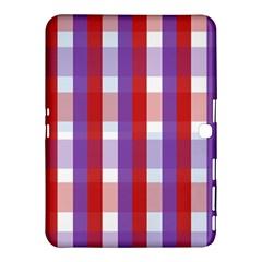 Gingham Pattern Checkered Violet Samsung Galaxy Tab 4 (10 1 ) Hardshell Case