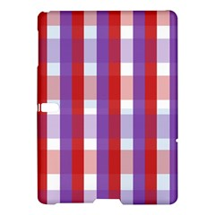 Gingham Pattern Checkered Violet Samsung Galaxy Tab S (10.5 ) Hardshell Case
