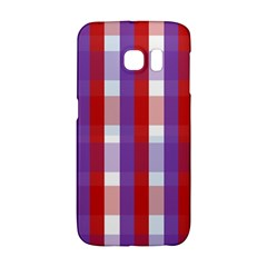 Gingham Pattern Checkered Violet Galaxy S6 Edge