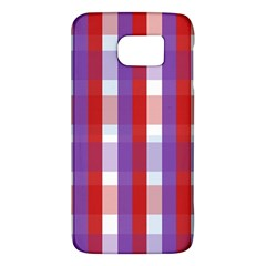 Gingham Pattern Checkered Violet Galaxy S6