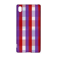 Gingham Pattern Checkered Violet Sony Xperia Z3+