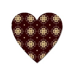 Seamless Ornament Symmetry Lines Heart Magnet