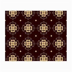Seamless Ornament Symmetry Lines Small Glasses Cloth (2 Side)