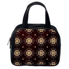 Seamless Ornament Symmetry Lines Classic Handbags (One Side)