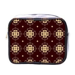 Seamless Ornament Symmetry Lines Mini Toiletries Bags