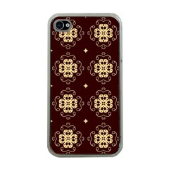 Seamless Ornament Symmetry Lines Apple iPhone 4 Case (Clear)