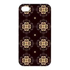 Seamless Ornament Symmetry Lines Apple Iphone 4/4s Hardshell Case