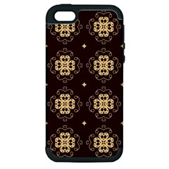 Seamless Ornament Symmetry Lines Apple iPhone 5 Hardshell Case (PC+Silicone)