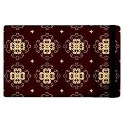 Seamless Ornament Symmetry Lines Apple Ipad 3/4 Flip Case