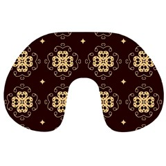 Seamless Ornament Symmetry Lines Travel Neck Pillows